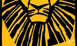 3 x adult tickets for the sold out Lion King Musical at