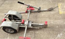 Little Bulldog folding boat trailer in good condition.