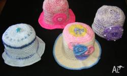 Little girls hats and shoes. Large selection of sizes