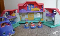 Little people house and car comes in very good