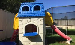 RARE FEBER KIDS 2 STOREY CUBBY HOUSE WITH SLIDE!!!! -