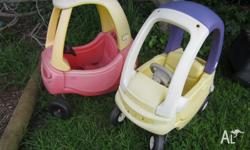 2 cosy coupe cars good preloved cond $60 for the pair