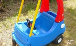 Little Tikes Cozy Coupe Car, Blue, in good used