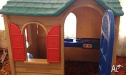 Fun cubby house, loved but out grown, by two girls. In