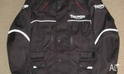 Triumph Motorcycle Jacket with separate inner coat for