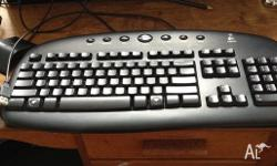 Logitec wireless mouse, wireless keyboard and USB