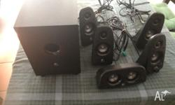 Perfect working condition speakers. 2 front, 2 rear, 1