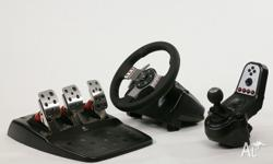 Up for sale is my Logitech G27 racing steering wheel.