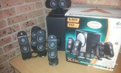 Logitech surround sound speakers. Hardly used. Comes