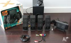 Logitech 5.1 X 540 Surround Speaker with Subwoofer.