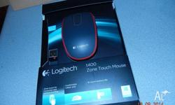 t400 zone touch mouse ,current model, 2 tone red