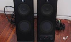 Logitech X-140 stereo computer speakers in good working