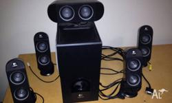 Logitech X-530 5.1 surround speakers in excellent
