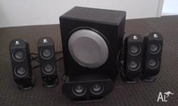 Logitech X-530 speaker system In very good condition 5