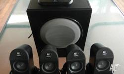 Logitech X-530 Speakers 5.1 Surround Sound System All