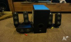 Logitech x530 5.1 surround sound, barely used, works