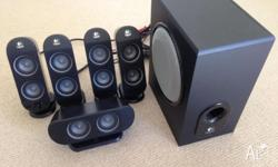 Logitech X530 5.1 speakers are in good condition. These
