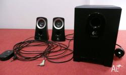 This is a logitech speaker system with two speakers and