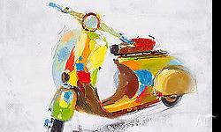 Lovely hand painted vespa. Ready to hand. Ideal for