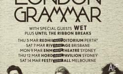 London Grammar Tickets Melbourne Festival Hall Standing
