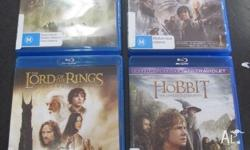 The Lord of The Rings Blu-Ray Collection 4 Movies on 4
