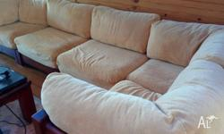 High quality Kruger velvet lounge suite. Covers are