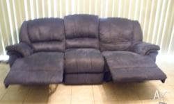 5 seater Sky Blue Material, 4 recliners Pick up only,