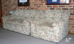 Fabric lounge suite 2 x 2 seater, 1 x 1 seater