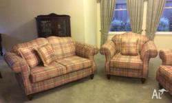 3 piece lounge suite 2 x two seater lounges 1x one