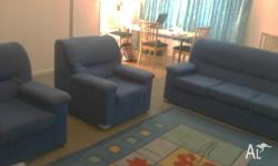 Beautiful Blue soft texture lounge. Three seater and