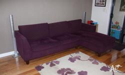 2 1/2 seat lounge with chaise and ottoman. Fabric