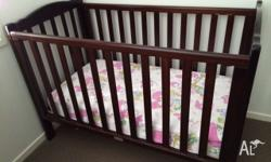 Love n Care baby cot + mattress in excellent condition