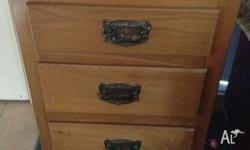 Beautiful Antique Coachwood Bedside Drawers for sale.