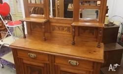 This is a lovely antique Edwardian sideboard/dresser
