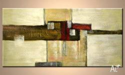 Lovely hand painted earthy toned abstract modern art.
