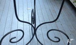 Beautiful Vintage Shabby Chic/Retro Black Plant Stand