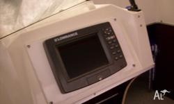 Lowrance X19 colour GPS/Fishfinder. This unit has been