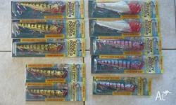 FOR SALE WE HAVE THESE 10 NEW SURFACE POPPER LURES.