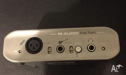 Audio interface used to record music from a microphone
