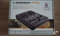 USB MIDI controller with DJ mixer layout, 27 MIDI
