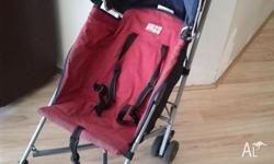 Maclaren Stroller, with rain cover. Has been well used,