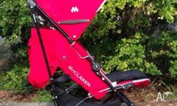 In good condition, Red Maclaren techno xt stroller,