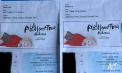 GOLD SEATING TO MADONNA CONCERT IN SYDNEY THIS SATURDAY