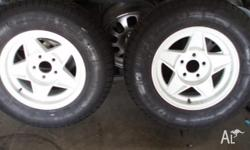 14x6 Mag Wheels Trailer Globe Mags Suit HT trailer.