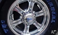 16x7 Mag Wheels Jungle PCD 6x 139 suit current Toyota
