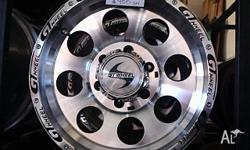 16x8 Mag Wheels GT wheel PCD 6x139 0 offset. Suit 4x4