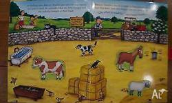 Magnetic farm animals book. Pick up The Gap. ********