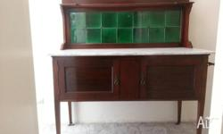 Mahogany Wash Stand with inlay work of lighter wood