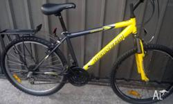malvern star bike, adult bike, 26inch wheels, rear