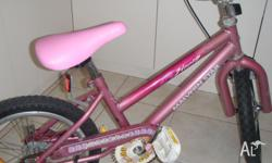 New seat, hand grips pink. Has chain guard, reflecters
